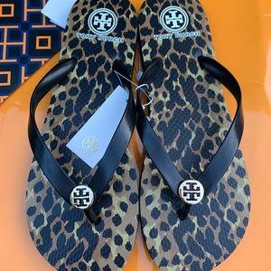 Tory Burch NWT Flip Flop Flat Sandals Wildlife